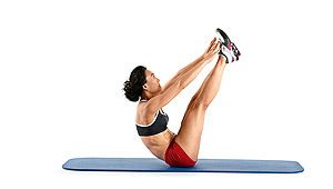 No equipment v-up abs